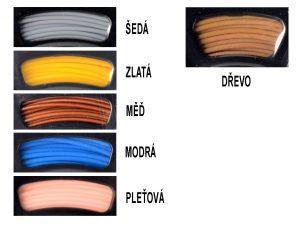 Možnosti barev krytu terminálu TEGGA