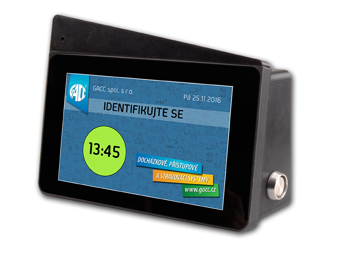 grafický docházkový terminál s kamerou TEGGA-DK