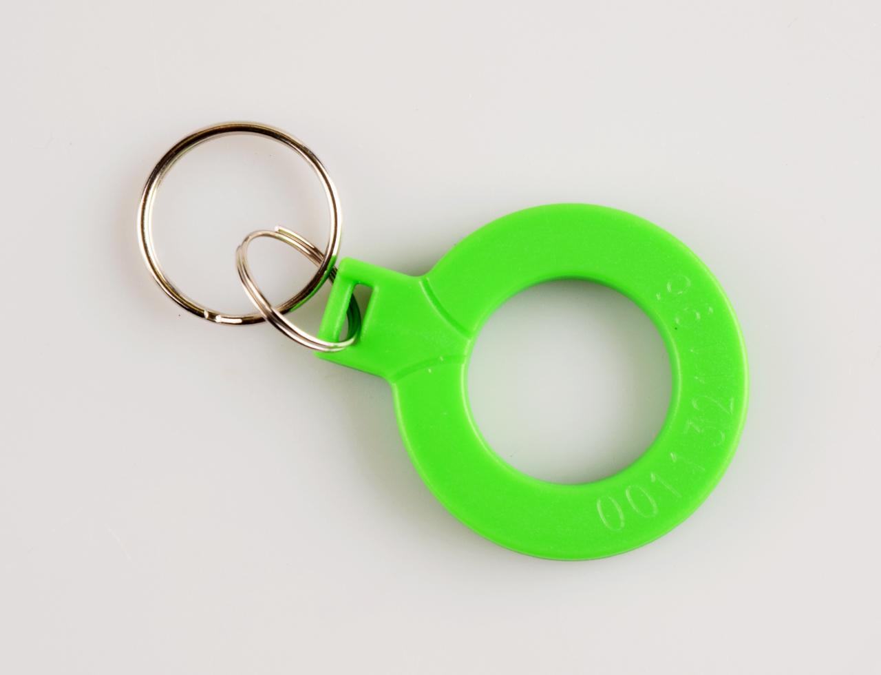 Klíčenka kroužek zelený (002)