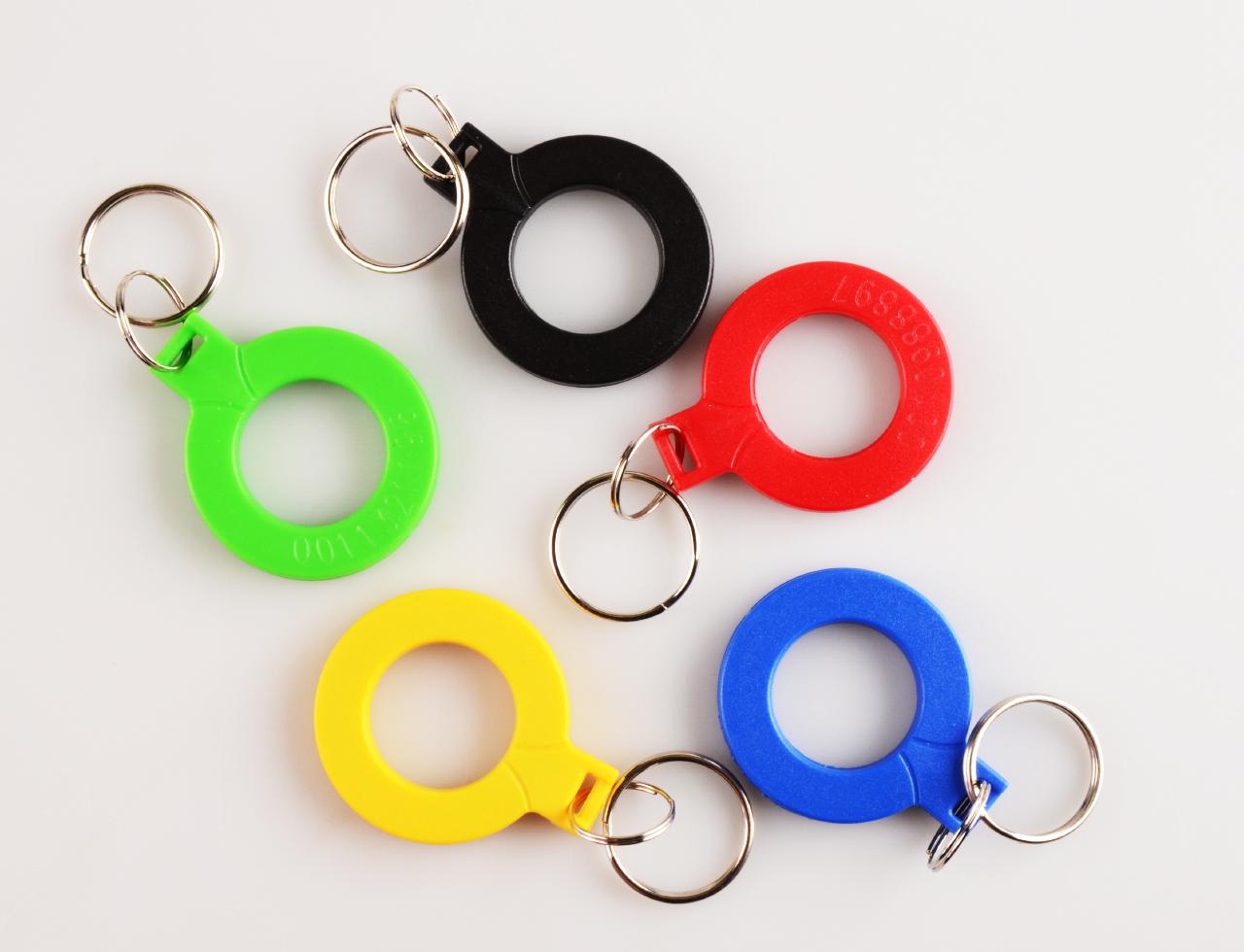 Klíčenky kroužky barevné