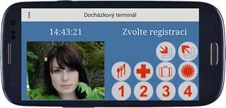 Mobilní klient - Docházkový terminál