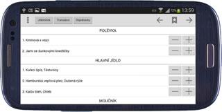 Mobilní klient- Přehled docházky