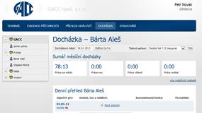 Web Client pro Job Abacus Pro - Docházka denní přehled