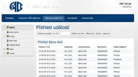 Web Client pro Job Abacus - Události přehled